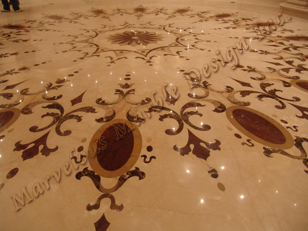 custom marble floor design